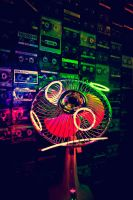 neon fan by smilincadaver