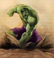 Hulk..SMASH school sketch by dartbaston