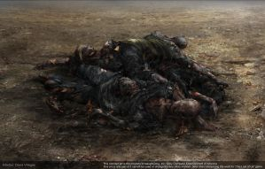 The Last of Us - Concept of Burnt Dead Bodies by DeivCalviz