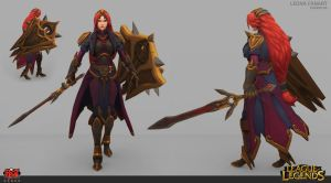 Leona classic skin redesign by DimiDevos
