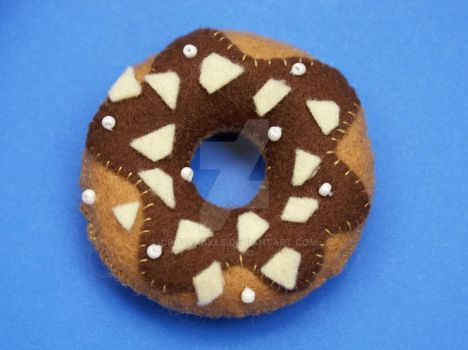 Chocolate Icing Doughnut plush by crossankle