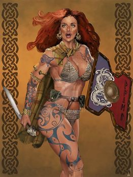 Pictish Woman, Moria Alfsdottir by JLazarusEB