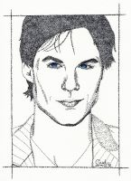 Somerhalder Pointillism by Cindy-R