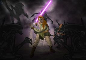 Jaina Solo's Xenomorph encounter by chainedname
