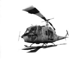 UH-1D 'huey' by pencilshadings