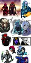 Mass effect OC sketches *warning huge file* by WinterSpectrum