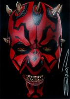 Darth Maul Sketch Card 2 by RandySiplon