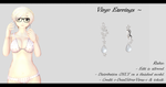 [MMD] Virgo Earrings DL ~ by o-DeadSilverVirus-o