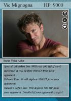 Vic Mignogna trading card by Lady-Koisuki