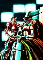 Evil Chun Li and M Bison by cric