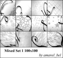 Mixed Brushes Set 1 by amavel-bel