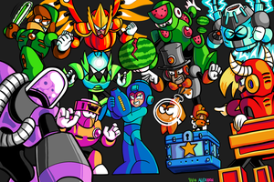 Mega Man Y+1 Group Shot by TEHTACOMAN12321