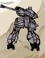 [Bipedal Tank Turret] by Endless-warr