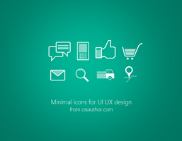Minimal Icons PSD for UI Design by cssauthor