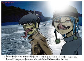 Gorillaz go on Vacation pic 1 by Riu-yuri