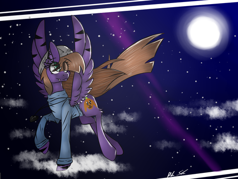 A art-trade whit Wing Of pegacraft by PurpleGirl-FNAF