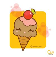 kawaii ice cream by melaniolivia