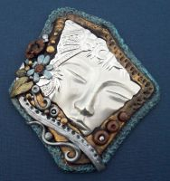 Goddess Brooch by MandarinMoon