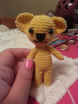 Yellow Crocheted Teddy Bear by Seinari
