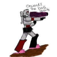 Megatron in slippers by maltaras