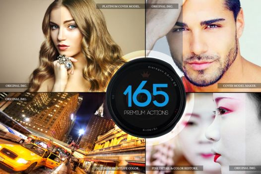 165 Premium Photoshop Actions by C3CreativeSpace