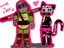 TMNT - Donnie and Mikoto by Dat-Jojo