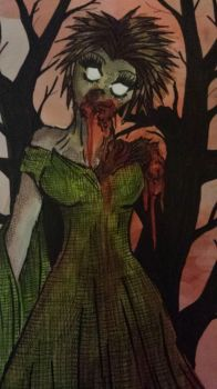 Woodland Zombie by Artistic-Kindness