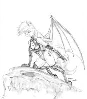 Anthro Batpony Petina 01 by Baron-Engel