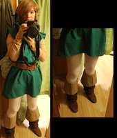 Link - Oracle of seasons/Ages progress 003 by Grethe--B