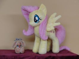 Hey Little Bunny, Fluttershy loves bunnies by WhiteDove-Creations