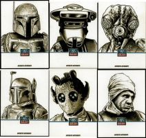 Star Wars Sketchcards by Frisbeegod