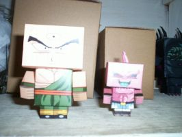 TENSHINHAN Y KID BUU CUBEECRAFT by tenchaos