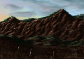 View of a Mountain by Alakram