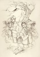 Hunters - pencil by ellaine