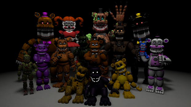 All FNAF protagonists by candy-x-cindy