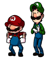 Mario and Luigi by Arlymone