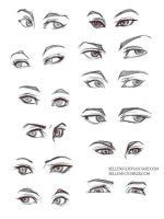 Eyes practice by Sellenin