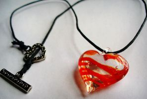 Heart of Glass Choker by paperdolldreams