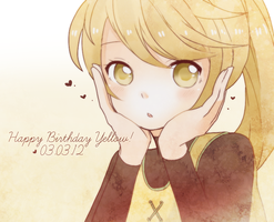 happy birthday yellow 3-3-12 by yukkarin