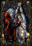 Dracula and his captive -color by Candra