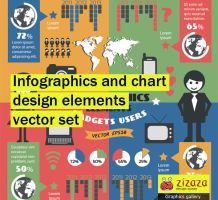 Infographics and chart design elements vector set by DarkStaLkeRR