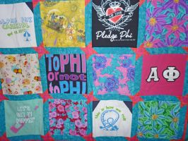 Alpha Phi Quilt Close up by ChumaChinchilla