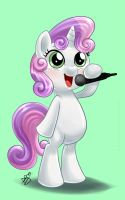 Commission - Cute Singing Sweetie Belle V2 by Pia-sama
