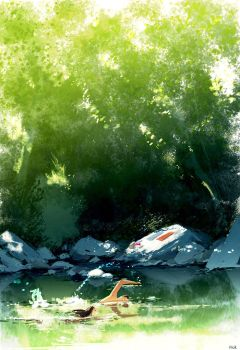 The swim off. by PascalCampion