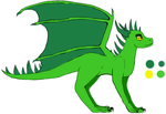 EverGreen's Dragon form ref by EverGreenTheDragon