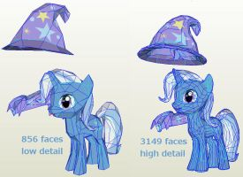 Great and powerful papercraft -Trixie by Znegil