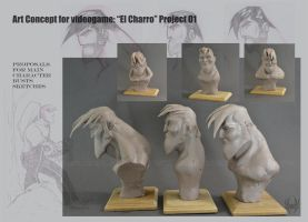 Art Concept for videogame: El Charro Project 01 by AlbertoCarrera