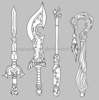 weapons set 1 by magicpotion
