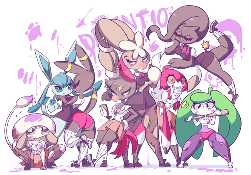 Pokeschool girls Detention by Diives