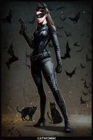CATWOMAN the dark knight cartoon version by digitalinkrod